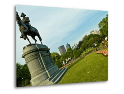 Statue of George Washington in the Boston Public Garden-Richard Nowitz-Metal Print
