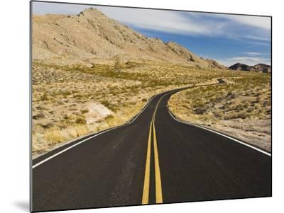 A Road Through and Arid Desert Landscape-James Forte-Mounted Photographic Print