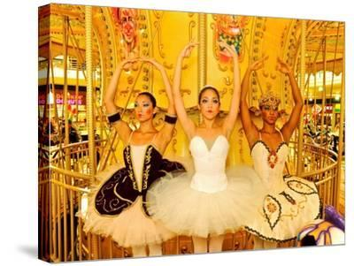 National Ballet of Panama Dancers Pose as Dolls at a Merry Go Round-Kike Calvo-Stretched Canvas Print