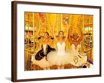 National Ballet of Panama Dancers Pose as Dolls at a Merry Go Round-Kike Calvo-Framed Photographic Print