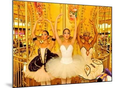 National Ballet of Panama Dancers Pose as Dolls at a Merry Go Round-Kike Calvo-Mounted Photographic Print