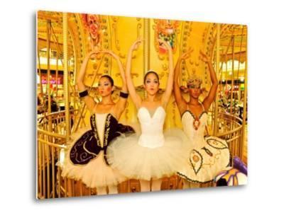 National Ballet of Panama Dancers Pose as Dolls at a Merry Go Round-Kike Calvo-Metal Print