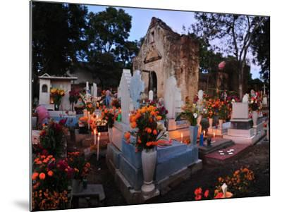 Xoxocotlan Graveyard on the Night of Day of the Dead-Raul Touzon-Mounted Photographic Print