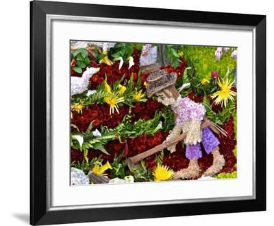 A Large Flower Mural Is Part of the Silleteros Parade-Kike Calvo-Framed Photographic Print