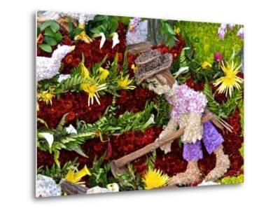 A Large Flower Mural Is Part of the Silleteros Parade-Kike Calvo-Metal Print