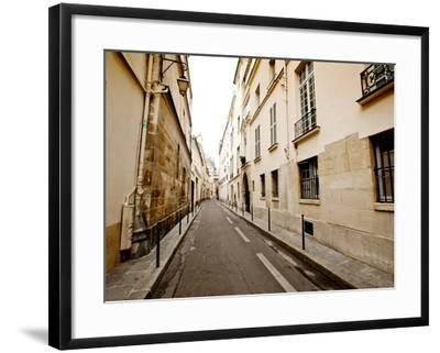 A Small Street Lined with Traditional Parisian Buildings-Jorge Fajl-Framed Photographic Print
