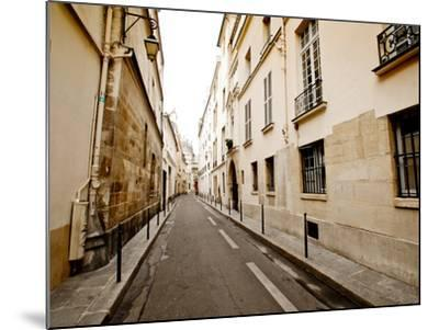 A Small Street Lined with Traditional Parisian Buildings-Jorge Fajl-Mounted Photographic Print