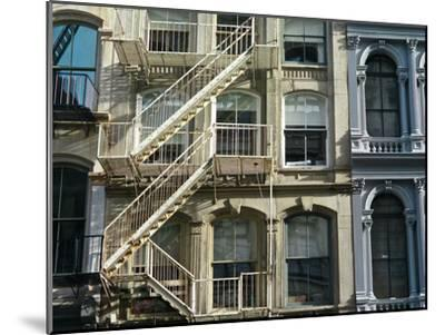 Fire Escapes on Buildings in Soho-Kike Calvo-Mounted Premium Photographic Print