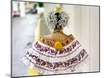A Young Panamanian Woman Wearing the Traditional Pollera-Kike Calvo-Mounted Photographic Print