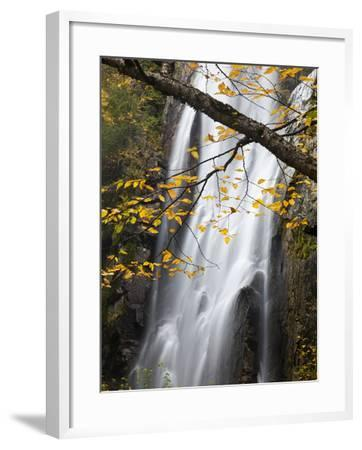 Rainbow Falls in the Saint Huberts Region of the Adirondacks-Michael Melford-Framed Photographic Print