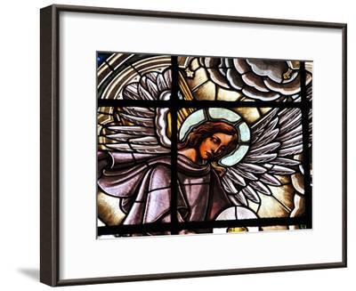 Stained Glass Window at the Basilica Del Voto Nacional-Kike Calvo-Framed Premium Photographic Print