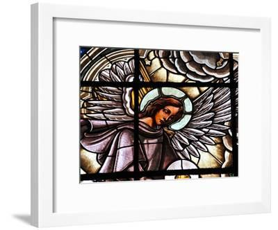 Stained Glass Window at the Basilica Del Voto Nacional-Kike Calvo-Framed Photographic Print