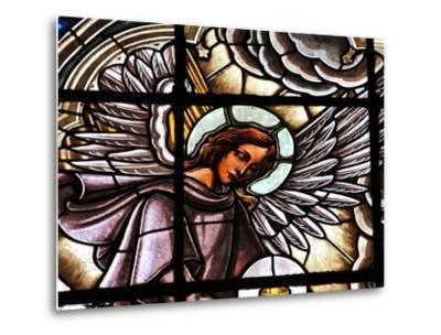 Stained Glass Window at the Basilica Del Voto Nacional-Kike Calvo-Metal Print
