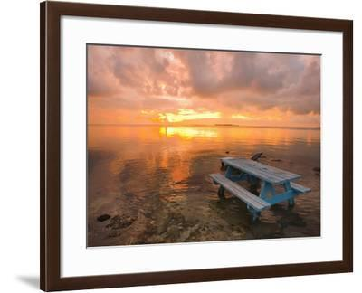 Cumulus Cloud Set Up and Threaten to Produce a Waterspout at Sunset-Mike Theiss-Framed Photographic Print
