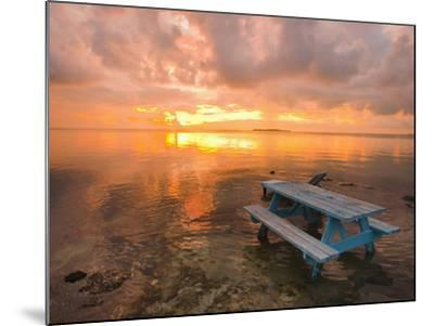 Cumulus Cloud Set Up and Threaten to Produce a Waterspout at Sunset-Mike Theiss-Mounted Photographic Print