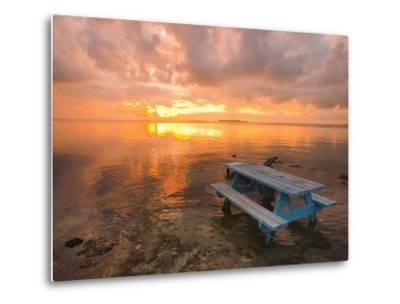 Cumulus Cloud Set Up and Threaten to Produce a Waterspout at Sunset-Mike Theiss-Metal Print