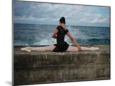 A Classic Ballerina from the Cuba National Ballet at the Malecon-Kike Calvo-Mounted Premium Photographic Print