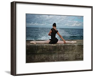 A Classic Ballerina from the Cuba National Ballet at the Malecon-Kike Calvo-Framed Premium Photographic Print