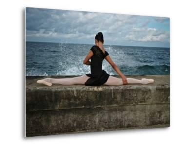 A Classic Ballerina from the Cuba National Ballet at the Malecon-Kike Calvo-Metal Print