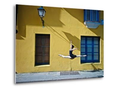 Ballet in the Colonial Streets of Old Havana-Kike Calvo-Metal Print