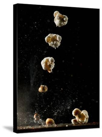 Multiple Exposure of a Single Popping Popcorn-Bruce & Greg Dale-Stretched Canvas Print
