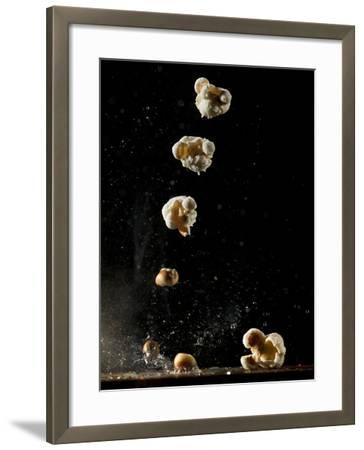 Multiple Exposure of a Single Popping Popcorn-Bruce & Greg Dale-Framed Photographic Print