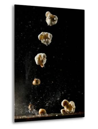 Multiple Exposure of a Single Popping Popcorn-Bruce & Greg Dale-Metal Print