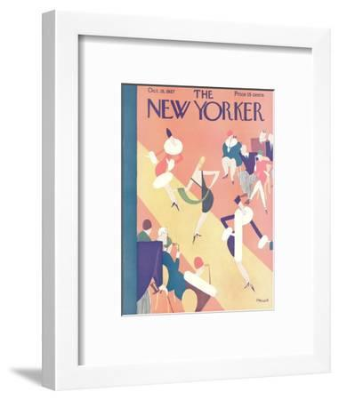 The New Yorker Cover - October 15, 1927-Theodore G. Haupt-Framed Premium Giclee Print