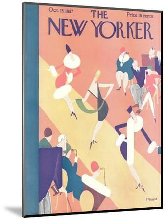 The New Yorker Cover - October 15, 1927-Theodore G. Haupt-Mounted Premium Giclee Print