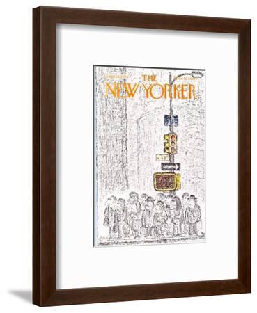 The New Yorker Cover - September 16, 1974-Edward Koren-Framed Premium Giclee Print