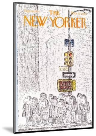 The New Yorker Cover - September 16, 1974-Edward Koren-Mounted Premium Giclee Print