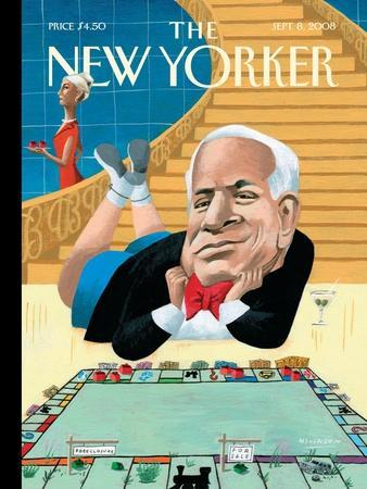 The New Yorker Cover - September 8, 2008-Mark Ulriksen-Stretched Canvas Print
