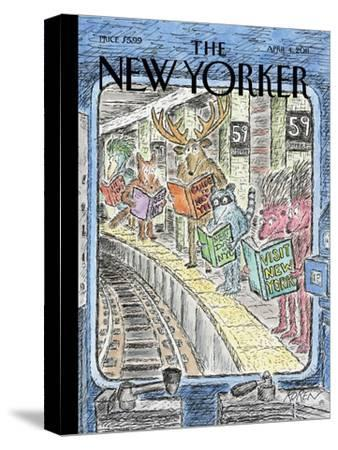 The New Yorker Cover - April 4, 2011-Edward Koren-Stretched Canvas Print