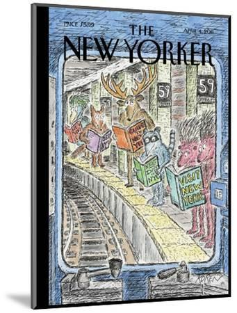 The New Yorker Cover - April 4, 2011-Edward Koren-Mounted Premium Giclee Print