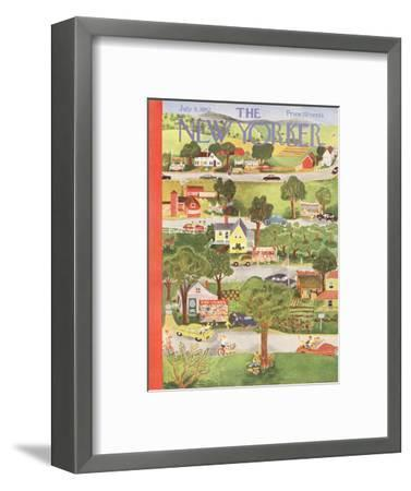 The New Yorker Cover - July 5, 1952-Ilonka Karasz-Framed Premium Giclee Print