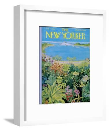 The New Yorker Cover - February 17, 1962-Ilonka Karasz-Framed Premium Giclee Print