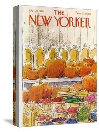 The New Yorker Cover - October 25, 1976-Arthur Getz-Stretched Canvas Print