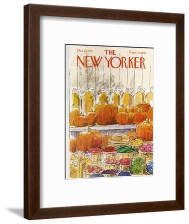 The New Yorker Cover - October 25, 1976-Arthur Getz-Framed Premium Giclee Print