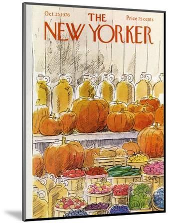 The New Yorker Cover - October 25, 1976-Arthur Getz-Mounted Premium Giclee Print