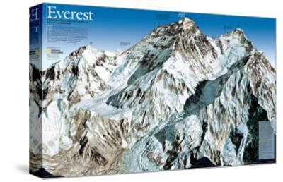 Mt. Everest Map-National Geographic Maps-Stretched Canvas Print
