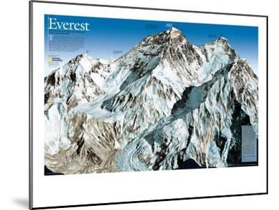 Mt. Everest Map-National Geographic Maps-Mounted Art Print