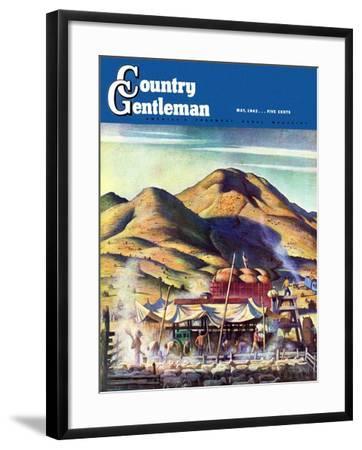 """Sheep Farm,"" Country Gentleman Cover, May 1, 1942-Jean L. Huens-Framed Giclee Print"