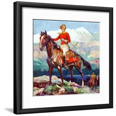 """Mountain Trail Ride,""April 1, 1936-Frank Schoonover-Framed Giclee Print"