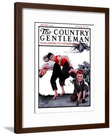 """Swarming Hornets,"" Country Gentleman Cover, September 1, 1923-WM. Hoople-Framed Giclee Print"