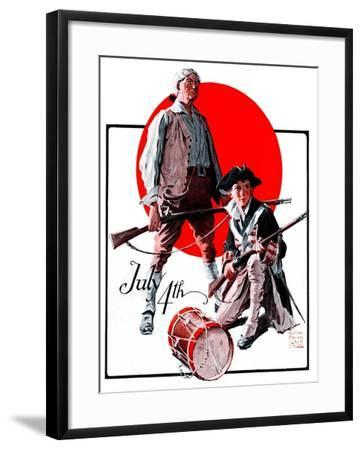 """""""Revolutionary Soldiers,""""July 4, 1925-William Meade Prince-Framed Giclee Print"""