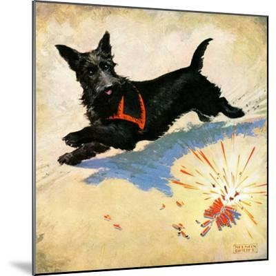 """""""Dog and Firecrackers,""""July 1, 1936-Nelson Grofe-Mounted Giclee Print"""