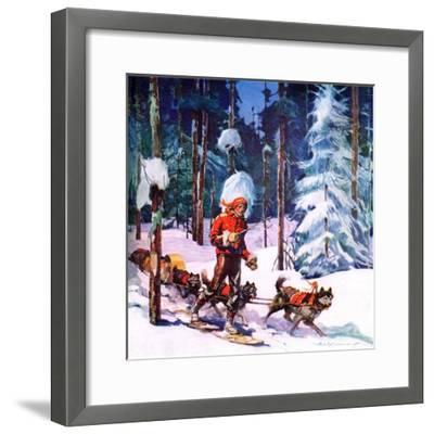 """""""Dog Sled,""""February 1, 1937-Frank Schoonover-Framed Giclee Print"""