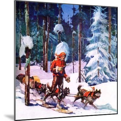 """""""Dog Sled,""""February 1, 1937-Frank Schoonover-Mounted Giclee Print"""