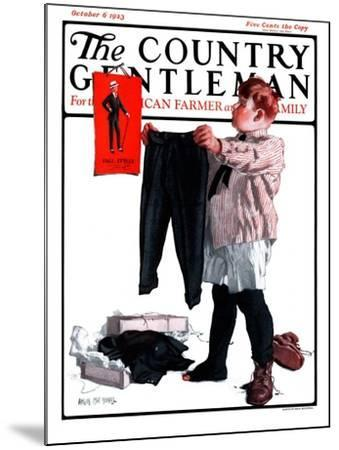 """First Pair of Long Pants,"" Country Gentleman Cover, October 6, 1923-Angus MacDonall-Mounted Giclee Print"