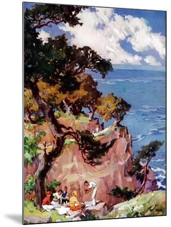 """Oceanside Picnic,""February 1, 1939-G. Kay-Mounted Giclee Print"